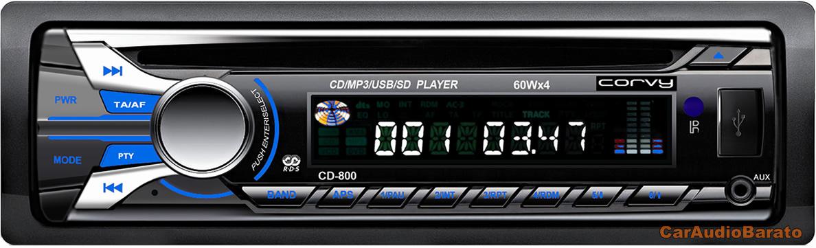 b1c1f498b Radio CD-MP3 USB SD * Puerto USB Frontal * Lector SD / MMC * 30 memorias *  WMA /MP3/CD-R/CD-RW * Potencia: 4 x 50w * 2 PRE OUT (4 rcas) * Equaliza.
